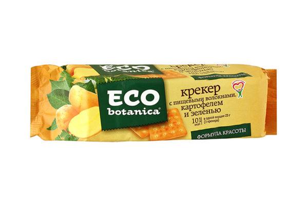 Eco botanica крекер с пищевым волокнами,картофелем и зеленью 175г*40шт (Рот Фронт) 1 кг. (Яшкино)