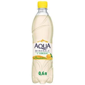 Аква Минерале с соком Лимон 0,6л.*12шт.