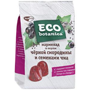 Eco-botanica Мармелад cо вкусом черной смородины и семенами Чиа 200г*10шт (Рот-Фронт)1 кг. (Яшкино)