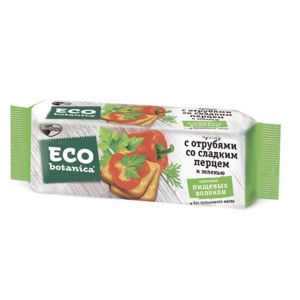 Eco botanica крекер с отрубями,сладким перцем и зеленью 175г*20шт (Рот Фронт) 1 кг. (Яшкино)