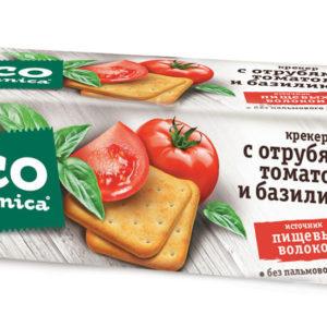 Eco botanica крекер с отрубями,томатом и базиликом 175г*20шт (Рот Фронт) 1 кг. (Яшкино)