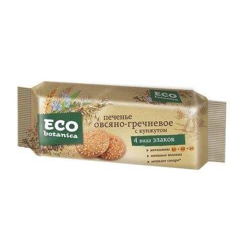 Eco botanica печенье овсяно-гречневое с кунжутом 280г*15шт (Рот Фронт) 1 кг. (Яшкино)