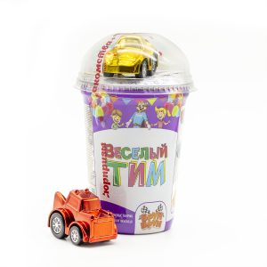 """Кукурузные палочки """"Брун-брун"""" вкус шок. +игрушка 25гр.*16шт. (Веселый Тим"""") стакан НОВИНКА!!!"""