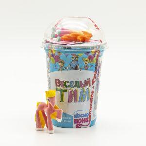 "Кукурузные палочки ""Космопони"" вкус шок. +игрушка 25гр.*16шт. (Веселый Тим"") стакан НОВИНКА!!!"