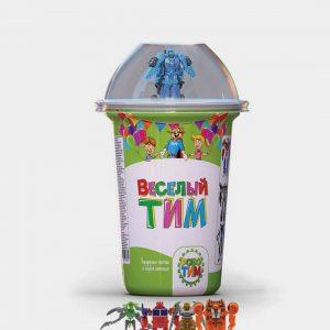 """Кукурузные палочки """"Робо-Тим"""" вкус шок. +игрушка 25гр.*16шт. (Веселый Тим"""") стакан НОВИНКА!!!"""